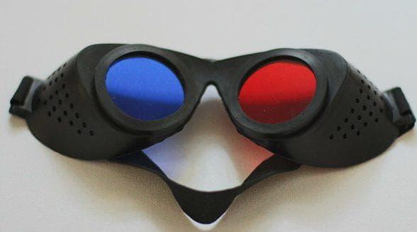очки с красно-синими фильтрами
