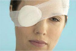 повязка на больной глаз