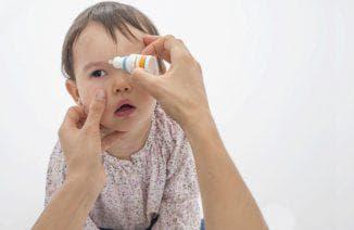 закапывание глаз детям