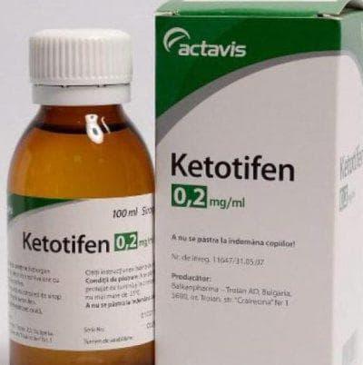 капли Кетотифеном