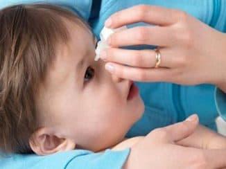 промыть глаз ребёнку