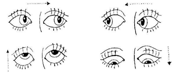 глаза в право в лево