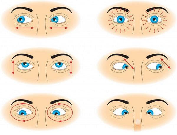 тренировка глаза в разные стороны