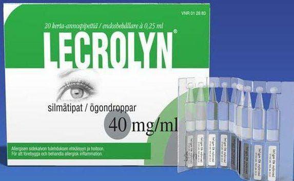 глазные капли лекролин в тюбике