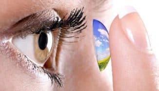 как одевать склеральные контактные линзы